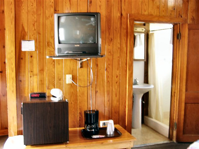 Basic Room includes: small refrigerator and coffee maker.