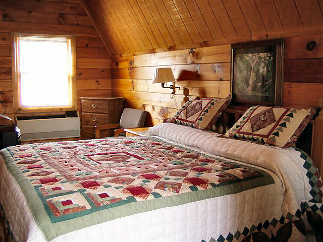 River Cabin: Non-smoking, one room, 16 x 18 with King bed.