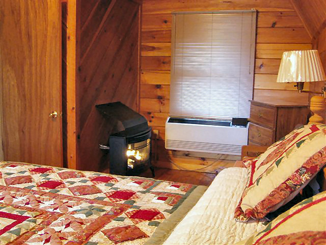 River Cabin: Gas fireplace