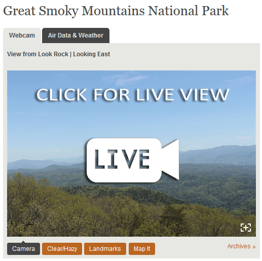Look Rock Mountain Webcam CLICK for LIVE VIEW